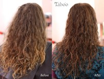 Curly hair haircut before and after photos