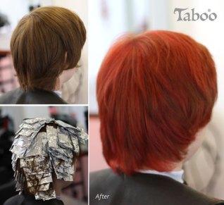 foil red hair colour photo