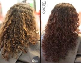Hair colour for curly hair