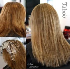 Hair colour correction