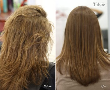 Result of chemical hair straightening
