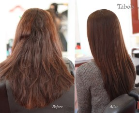Chemical Hair Straightening result by Tina Fox Karori hairdresser