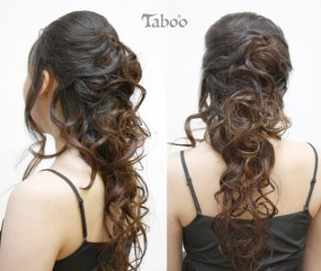Long hair updo style photos