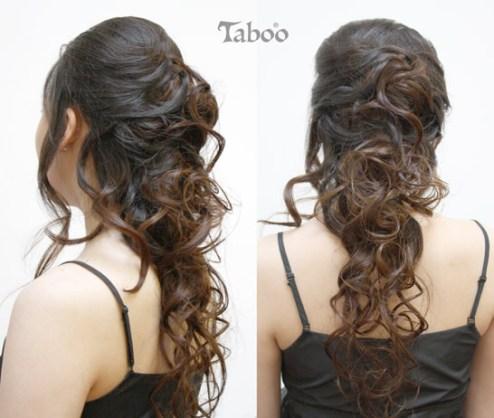 Long hair updo style photos