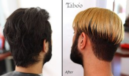Male hair colouring photo