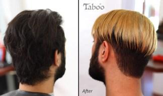 Male hair colouring photo