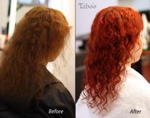 Reddish orange hair colour style