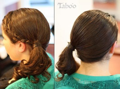 updo ponytail photo