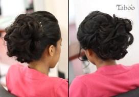 Dark haired updo design photo