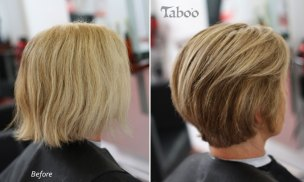 Short layered bob photo