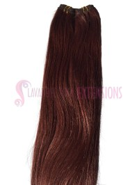 #33 Copper Red Weft Hair Extensions Straight