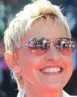 Ellen DeGeneres Short Straight Casual Hairstyle Light