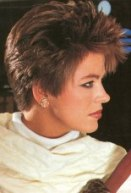 vintage 80s hairstyle photo