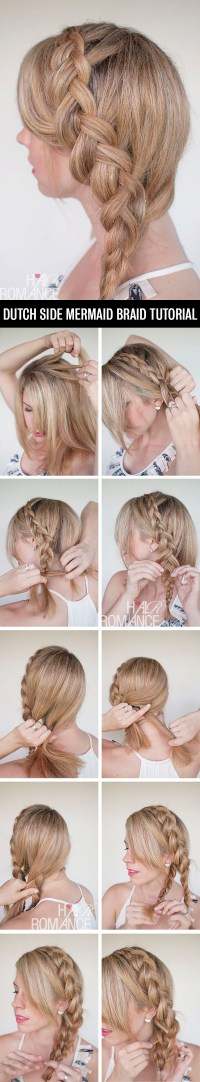 Dutch Side Braid Hairstyle Tutorial Hair Romance