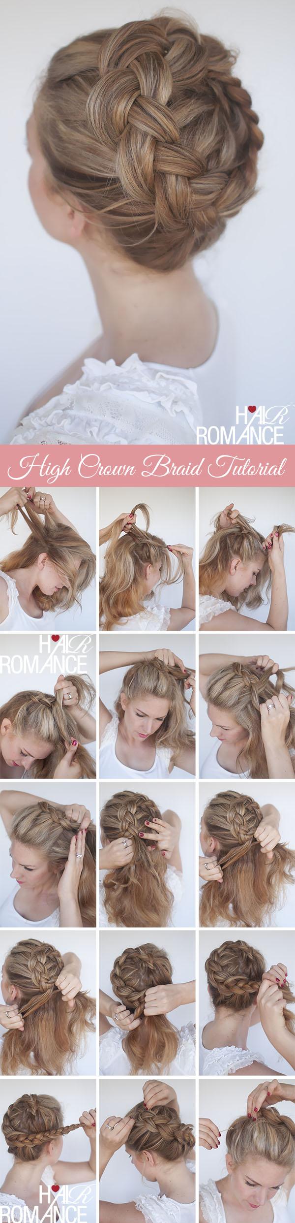 New braid tutorial  the high braided crown hairstyle