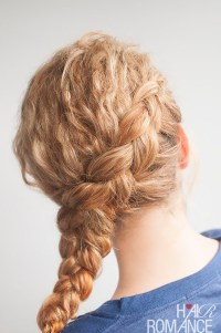 Curly side braid hairstyle tutorial - Hair Romance