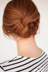 Easy plaited updo hairstyle tutorial - Hair Romance