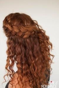 Curly hair tutorial - the half-up braid hairstyle - Hair ...