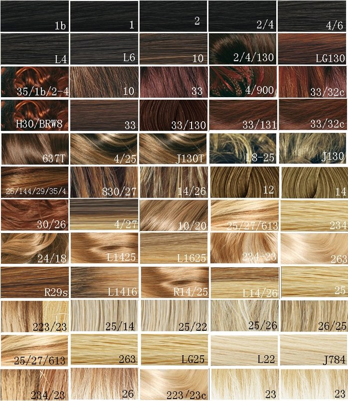 Synthetic Blonde Hair Color Chart / Hair Dye Color Chart Customer - hair color chart