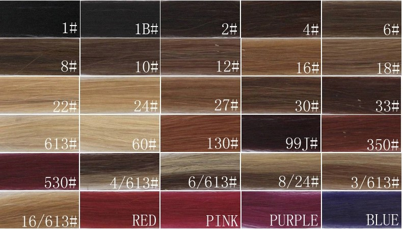 100 Real Human Hair Extension Color Chart , Weave Hair Color Chart - hair color chart