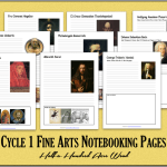 Cycle 1 Fine Arts Notebooking Pages