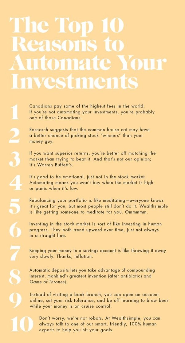 The top 10 reasons you really, seriously need to automate your investments. When someone can link brewing beer with investing, I am *all* ears.