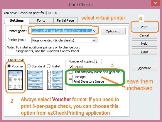How to print QuickBooks Checks on Blank Check Paper