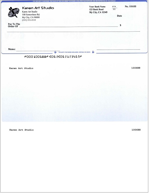 How to Print QuickBooks Compatible MICR Blank Checks Yourself