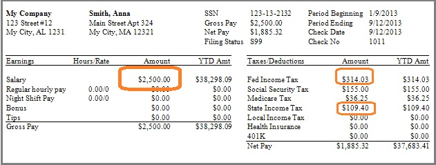 How to Create a Paycheck for a Salaried Employee Paid 9 Months a Year