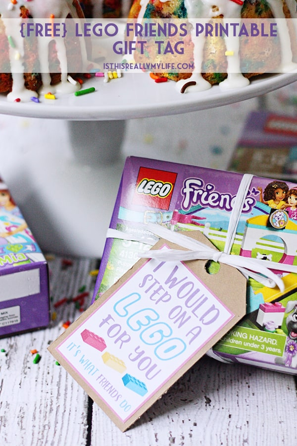 Free LEGO Printable Gift Tag \