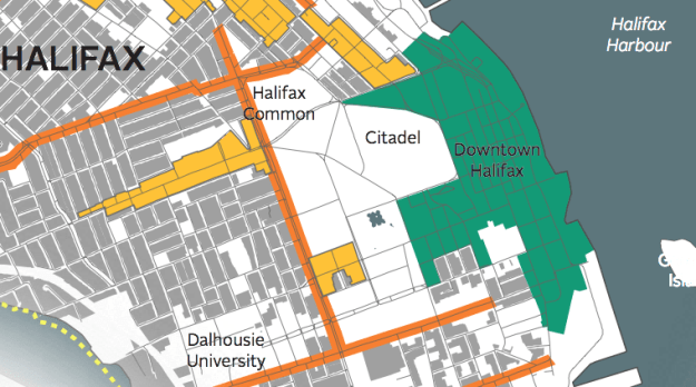 Centre Plan Primary and Secondary Targeted Growth Areas