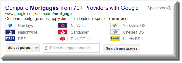 Google Compare Review Credit Cards, Mortgages, Car Insurance