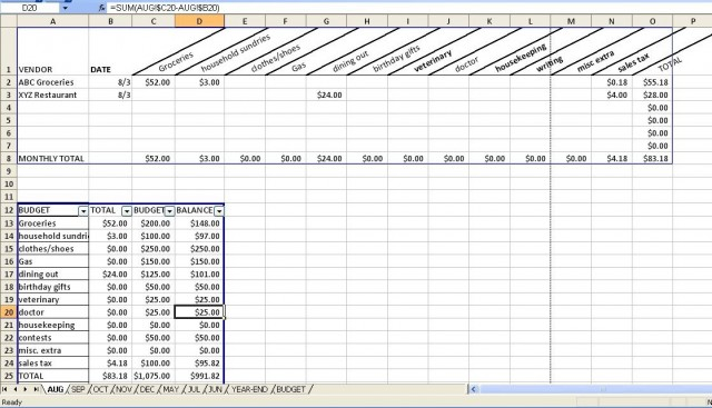 Budgeting Spreadsheet with a Downloadable Form! Hallee the Homemaker