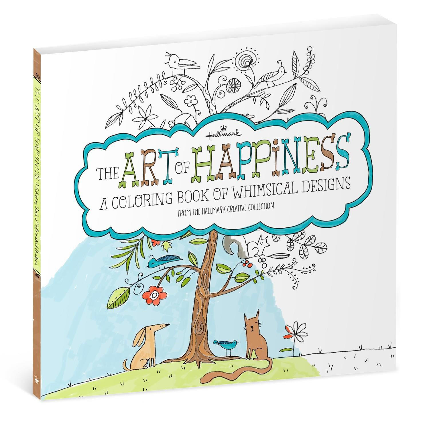 The art of happiness whimsical designs coloring book for adults coloring books hallmark