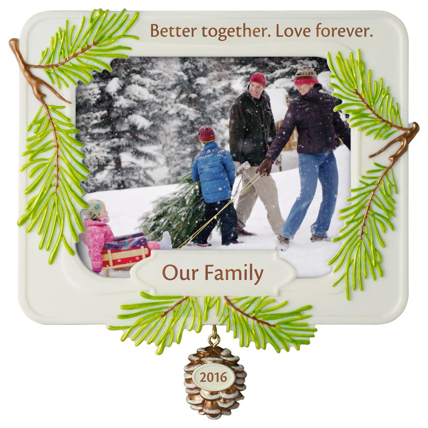 Better together family photo holder ornament keepsake ornaments hallmark