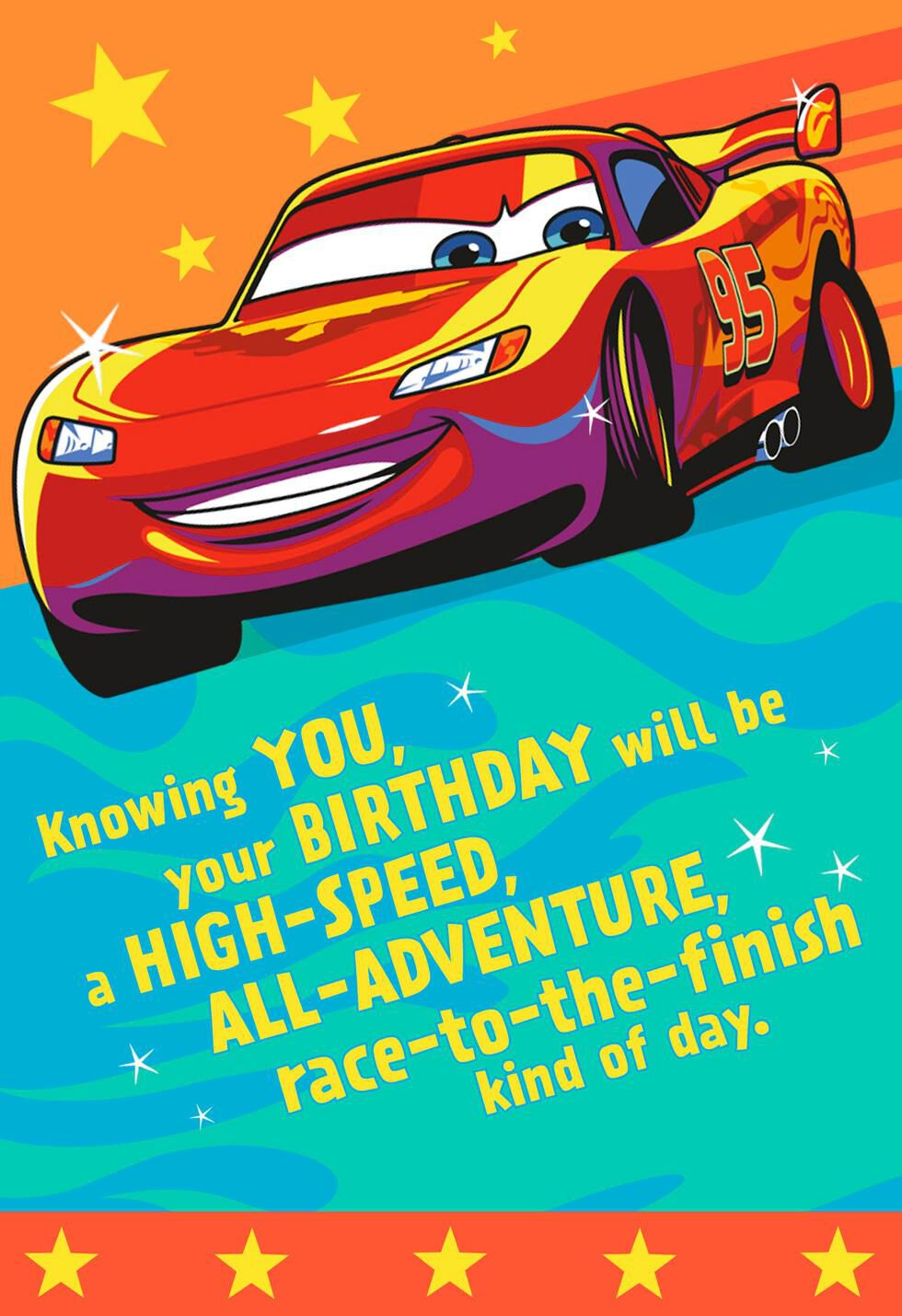 lightning mcqueen birthday cards