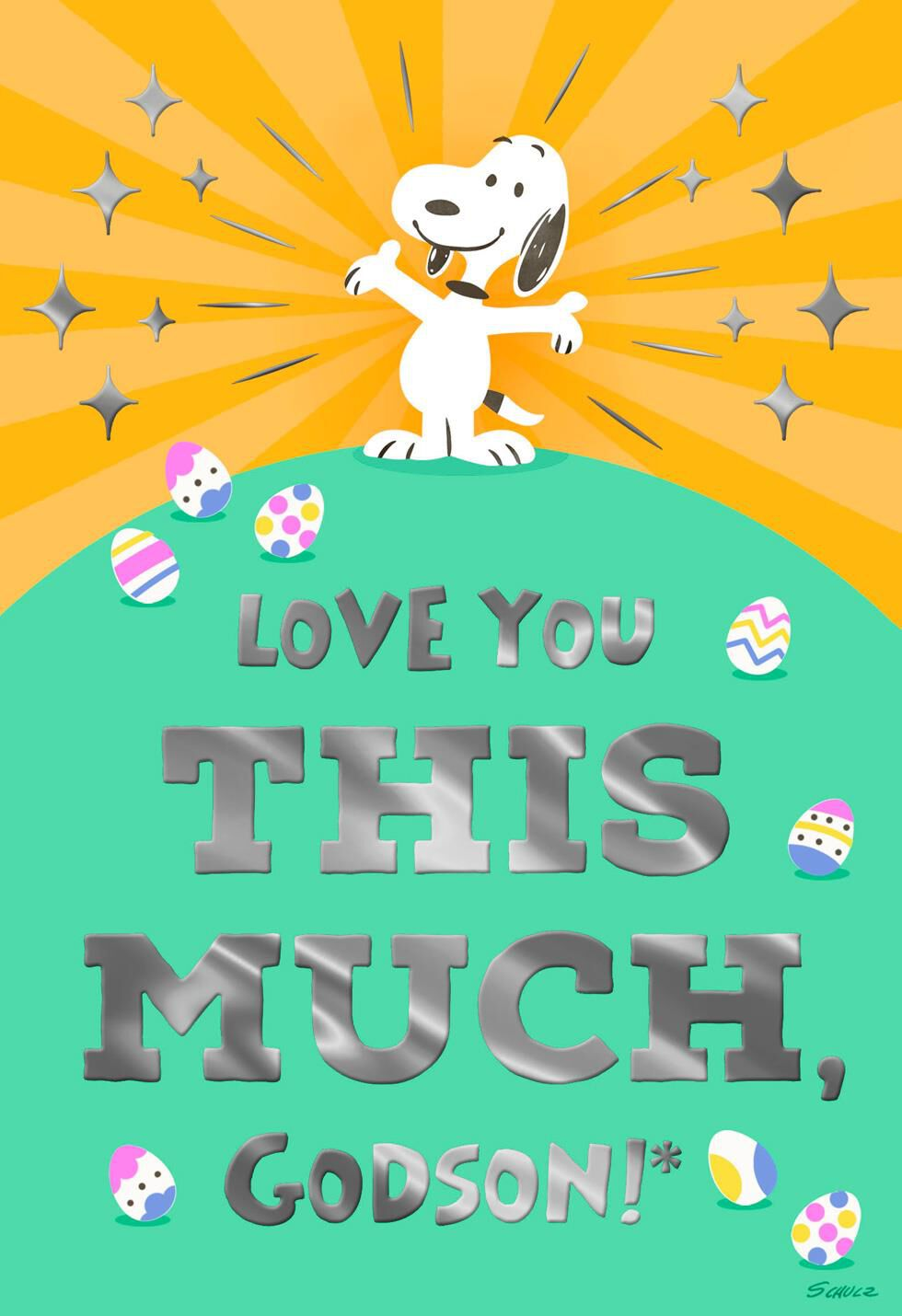 Charlie Brown Fall Wallpaper Peanuts 174 Snoopy Love You This Much Godson Easter Card