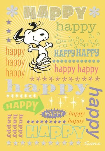 Snoopy Happy Birthday Card - Greeting Cards - Hallmark