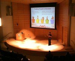 Amanda O'Brien speaking at Social Media FTW
