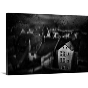 "Haunted House Photographic Print on Canvas Size: 24"" H x 36"" W x 1.25"" D"