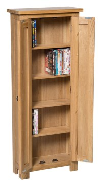 Waverly Oak 2 Door DVD Storage Cupboard Cabinet | Hallowood