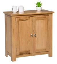 Small Oak Storage Cupboard | Wooden Filing Cabinet Shoe ...