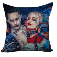 Suicide Squad Margot Robbie Harley Quinn And Joker Cushion