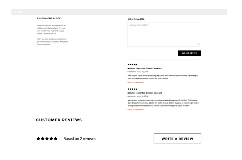 Ella - Responsive Fashion Shopify Template (Sections Ready - product review template