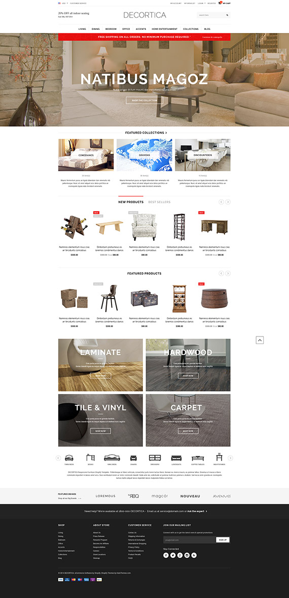 DECORTICA - Responsive Shopify Template Released - HaloThemes
