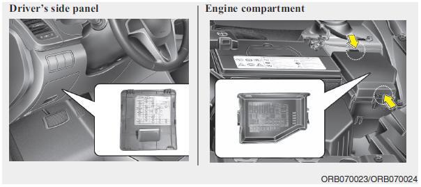 Hyundai Accent Fuse/relay panel description - Fuses - Maintenance