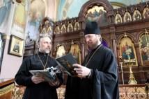 Протоиерей Сергий (Бабурин) и игумен Феофан (Лукьянов), заместитель начальника Русской Духовной Миссии в Иерусалиме