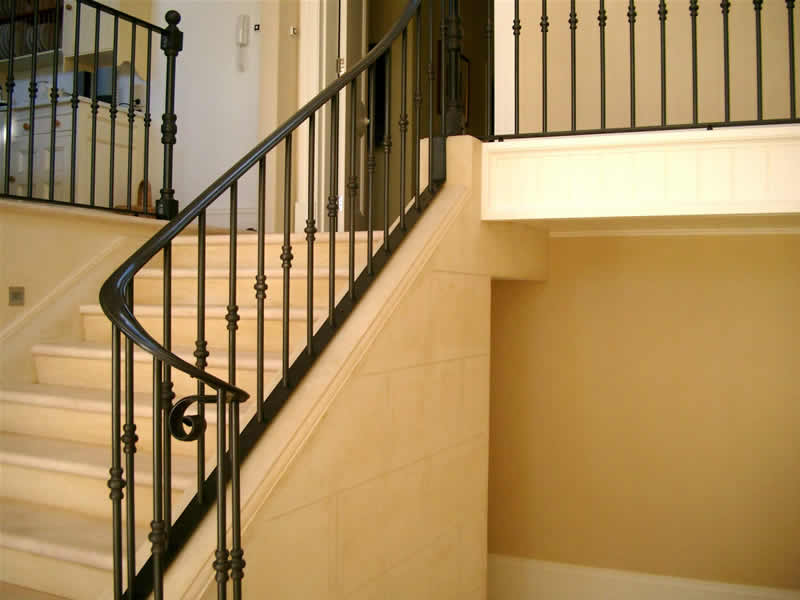 Wrought Iron Stairs Railings Wrought Iron stair-rails, internal balcony rails, bannisters
