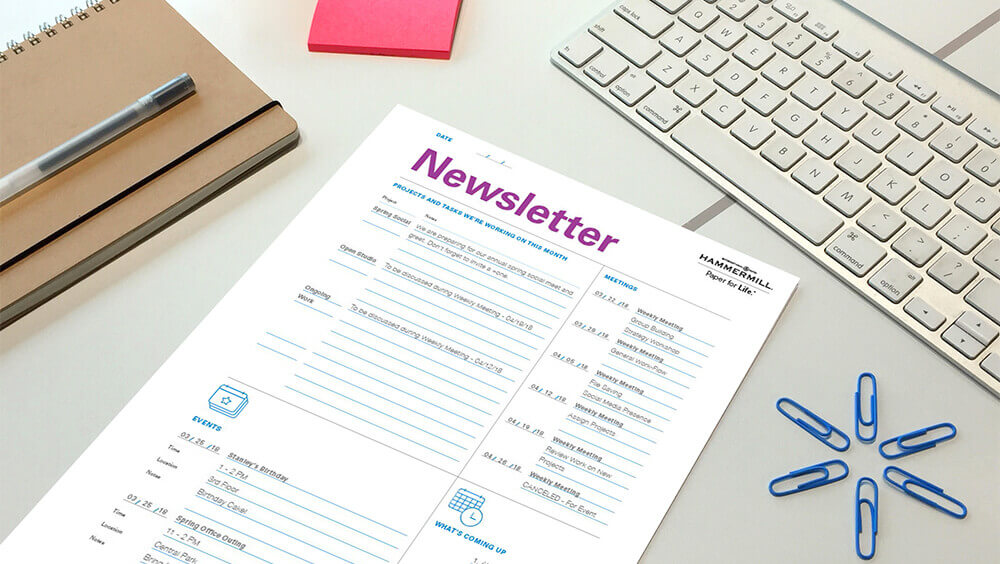 Business Newsletter Templates - Hammermill Papers