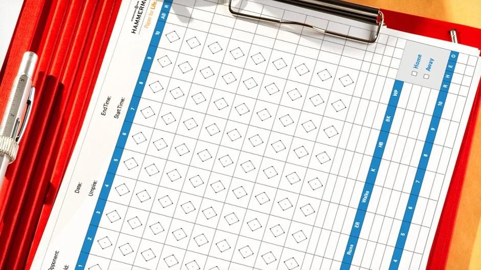 Baseball Score Sheet Template